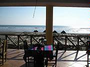 Beachside restaurant ocean view..