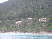 View from the sea and the property is the house on the left...