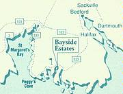 Location of Bayside Estates..