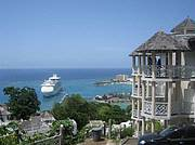 View from Sky Castles Resort onto Ocho Rios Bay..