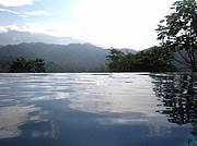 Salt Water Infinity Pool with Scarlet Macaws flying by each evening.  This is Heaven..