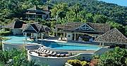 Silent Waters Villa Montego Bay, Jamaica aerial photo of pavilion, owner's villa, sundeck and sea..