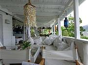 Relax in the Main House in the inner lounge. of shells surround you with white cool colours..