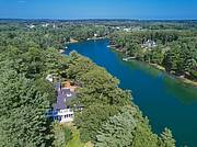 Aerial view of Property alongside The York River...