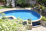 Luxury rental villa swimming pool..