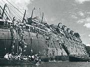 The sinking, and evacuation of 5000 soldiers & crew...